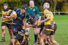 George Boyle powers through for Worcester under 16s at Droitwich. Picture: WORCESTER RUGBY CLUB