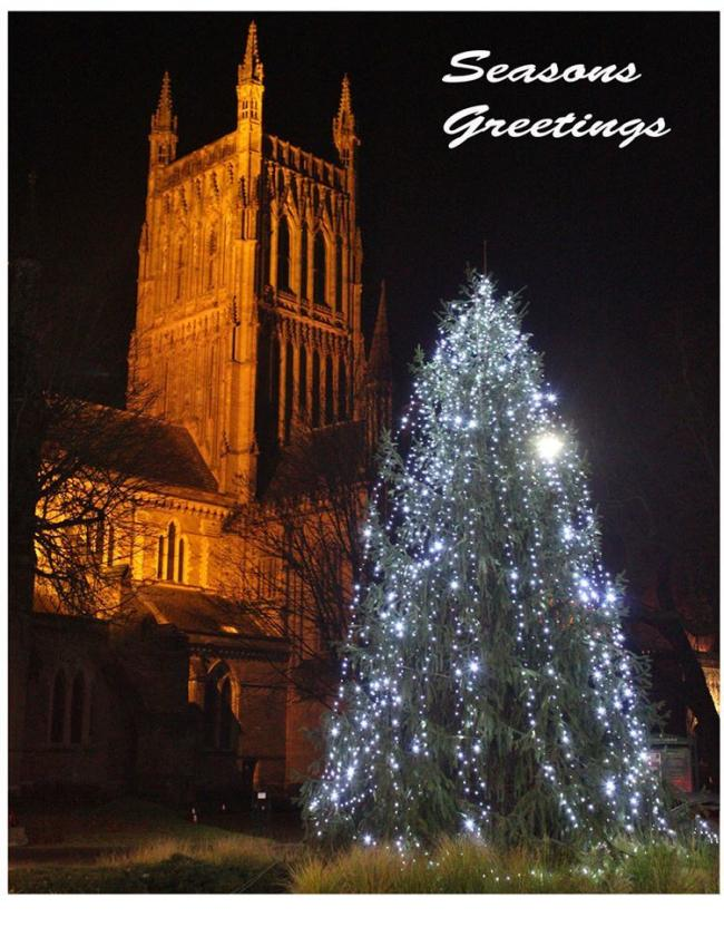 THE Christmas tree on Deansway with the cathedral in the background, pictured by Camera Club member Stuart Jancey