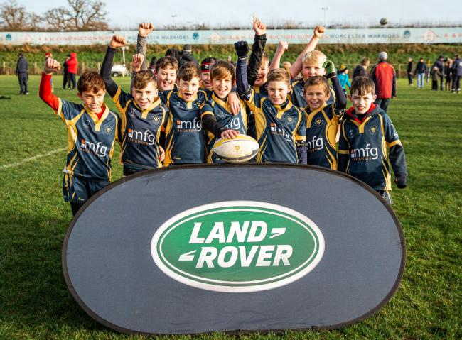 Worcester Rugby Club's under 11s at the Land Rover Premiership Rugby Cup. Picture: SPORTSBEAT