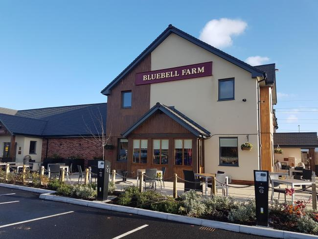 EXTERIOR: The Bluebell Farm pub