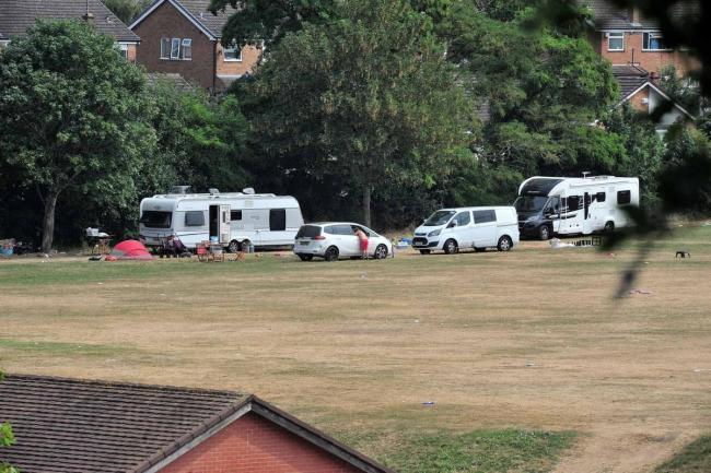 Travellers at King George V Playing Fields