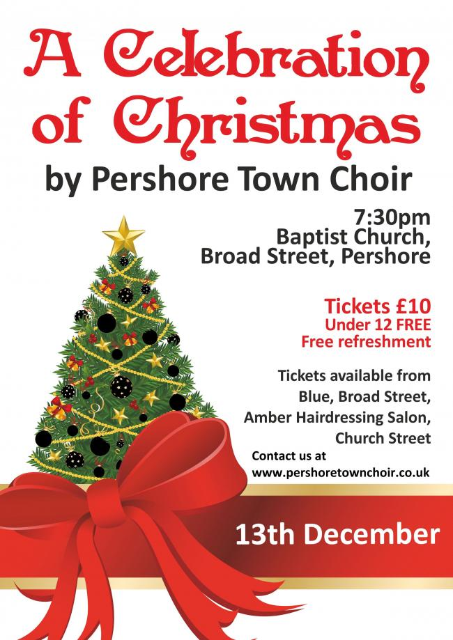 Pershore Town Choir's Christmas concert takes place this week