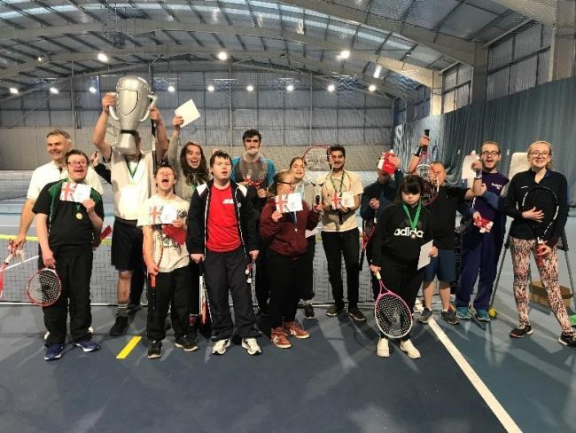 Pershore Plum Plodders support the growth of a disability tennis programme