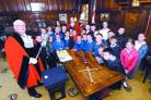 Warndon Primary School: Pupils enjoy tour of the Guildhall