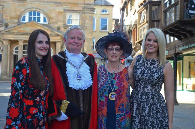 Ludlow Mayor Tim Gill with his wife Mary and duaghters