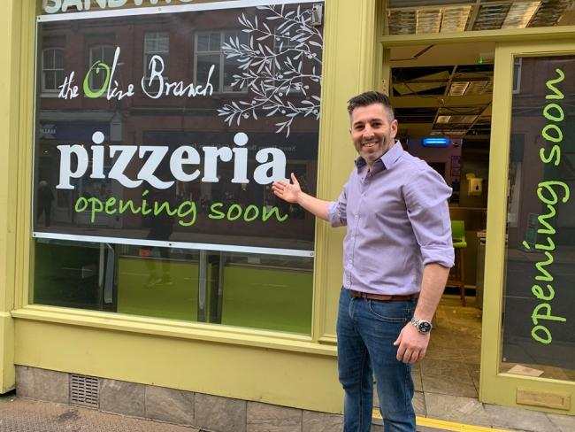 HAPPY: Adam Giagnotti, owner of The Olive Branch Mediterranean Bistro and Wine Bar, is opening a new pizzeria in St Swithin's Street