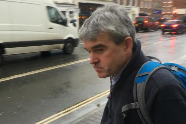 TRIAL: Neil Brown outside Worcester Crown Court