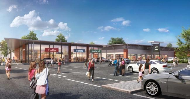 NEW: An artist's impression of the new Costa and Greggs at Blackpole Retail Park in Worcester - the third new store has yet to be revealed