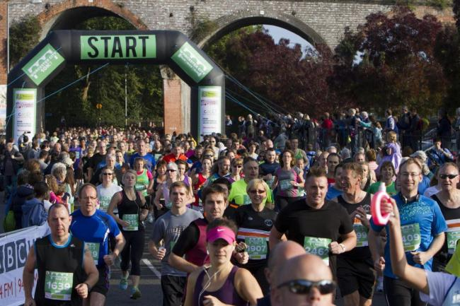 RUNNING: Today's Worcester News Nostalgia photo comes from 2014, when thousands of runners took part in the Worcester City 10k. The popular event has been postponed for 2020 due to coronavirus.