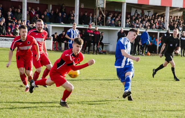 ACTION: Atherstone Town 1 Worcester City 1 in the FA Vase. Pic: Roger King.