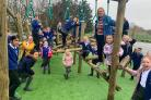 St Barnabas C Of E Primary School's new outdoor play area has officially been opened