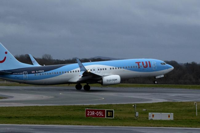 A TUI jet at Manchester Airport
