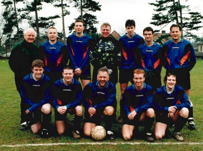 Worcester side County Sports FC line up in the 1997/98 season