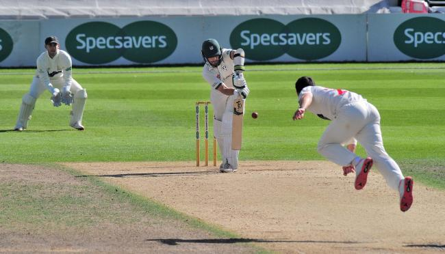 Cricket action at Blackfinch New Road. Picture: JONATHAN BARRY