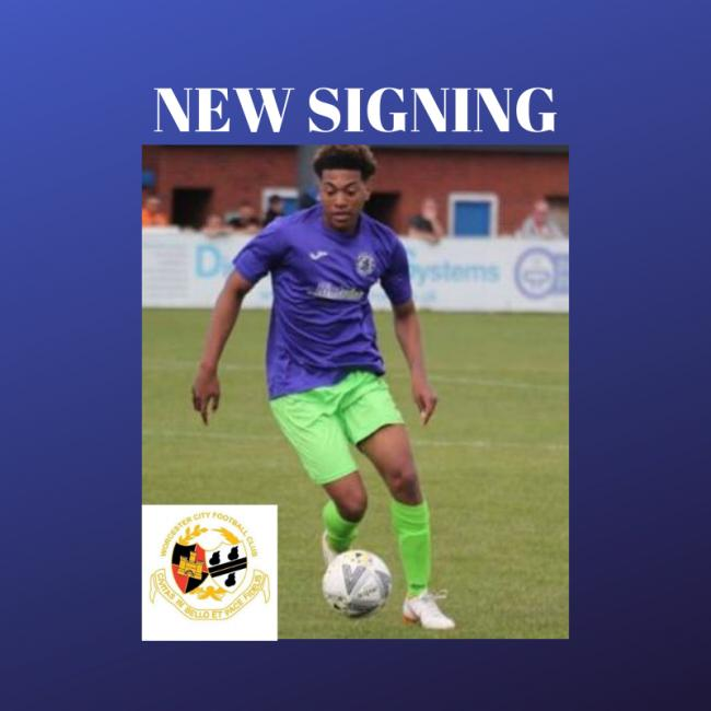 City sign striker from Vase conquerors Atherstone