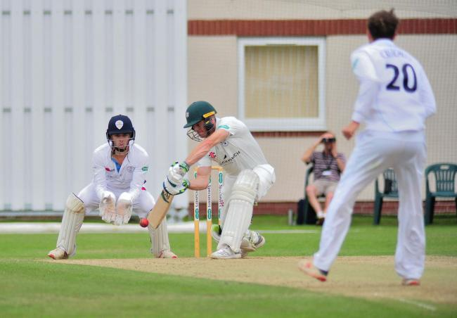 Worcestershire's Ben Cox in action with the bat against Derbyshire last season. Picture: JONATHAN BARRY