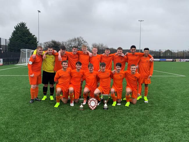 Worcestershire FA Sunday Under 18s Cup final winners Meadow Park. Picture: ELLIOT YATES