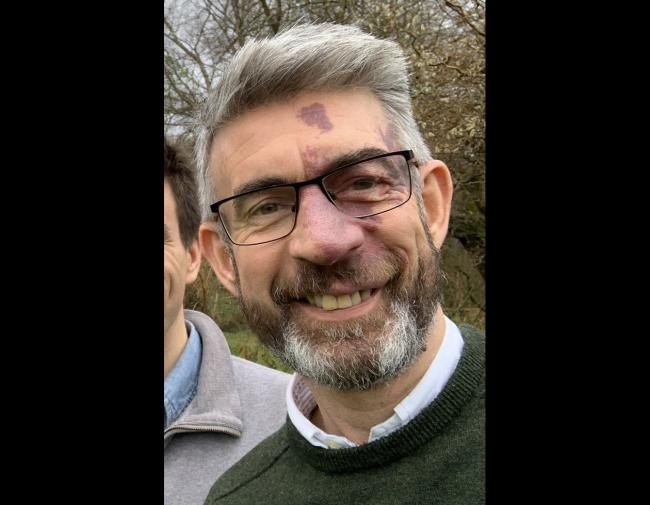 Undated handout photo issued by Hampshire Police of Richard Morris who has gone missing after going for a run from his UK home. The 52-year-old has not been seen since he went jogging in his home village of Bentley near Farnham, Hampshire, on the morning