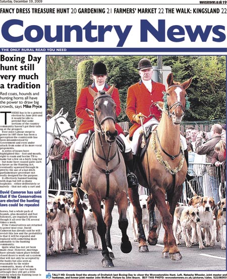 Boxing Day hunt still very much a tradition