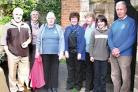 PRAISED by BISHOP: Second from left, the Rev Sally Jones, centre Celia Adams, church warden, and a group of parishioners in Teme Valley South which has been labelled 'toxic' by union Unite.