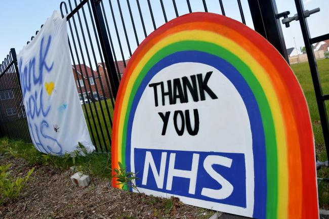 Thankyou NHS posters. Picture: Sean Dillow