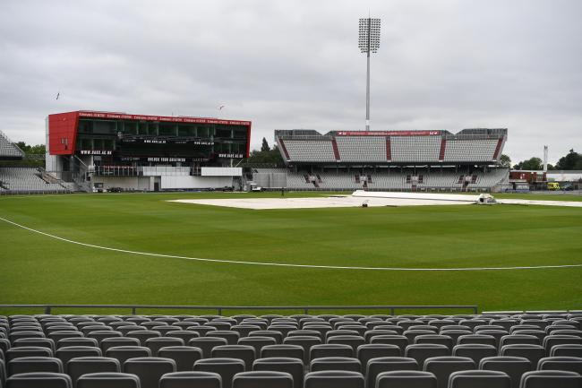 Rain has blighted the start of this fixture (Gareth Copley/PA)