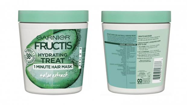 Worcester News: Hydrate your hair with the Garnier Fructis 1 Minute Nourishing Hair Mask. Credit: Garnier