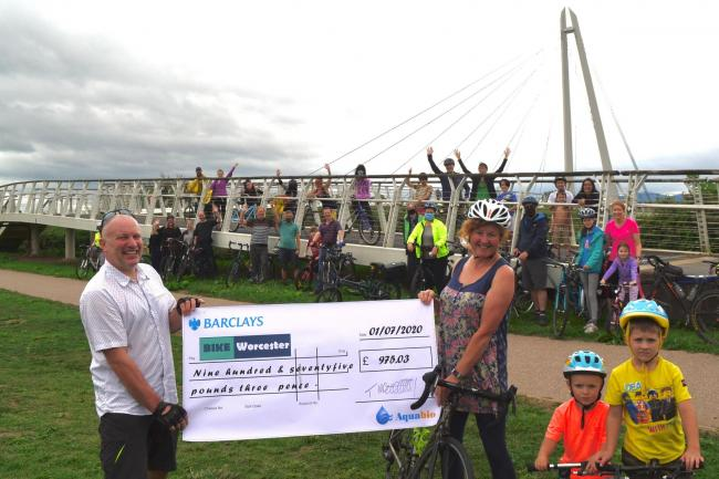 Pedal power gives £1,000 boost to cycling group