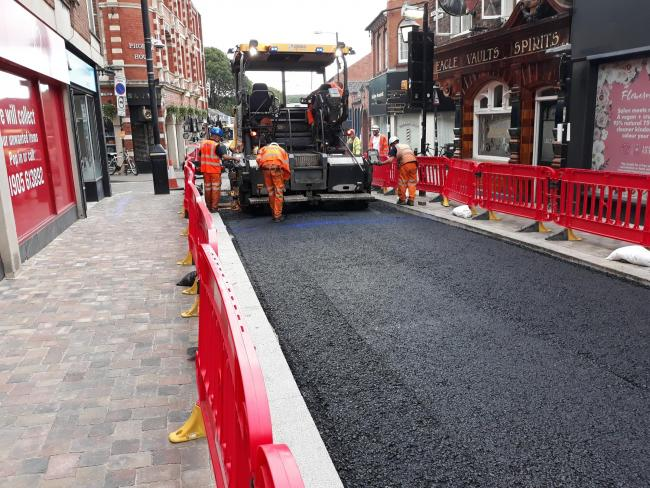 WORK: Pump Street improvements are progressing well