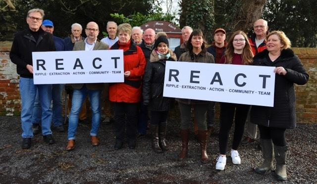 CONCERNS: Members of REACT with Cllr Jeremy Owenson opposing the planned gravel dig near Ripple