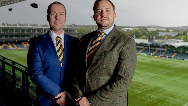 PRESSURE: Worcester Warrior bosses, Colin Goldring and Jason Whittingham say the future of the club is uncertain