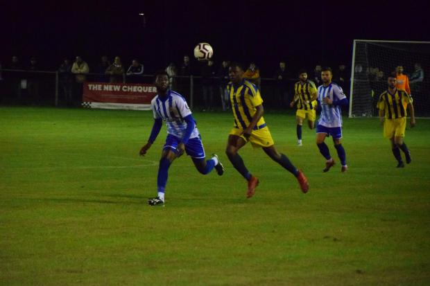 Action from Worcester City 1 Coventry Sphinx 1 - PICS: Sam Williams