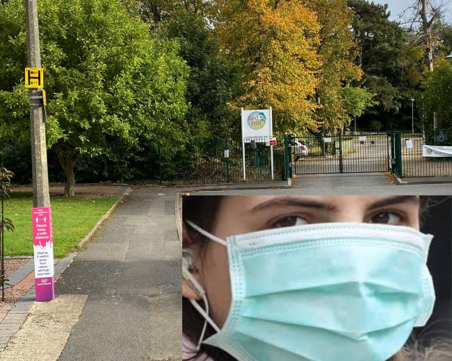 MASKS: Parents at Red Hill Primary School have been asked to wear masks