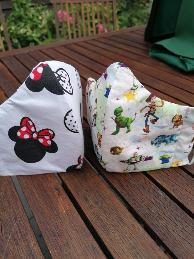 Worcester News: Minnie Mouse and Toy Story face mask (Photo: Etsy/ Sheila Hoggarth)