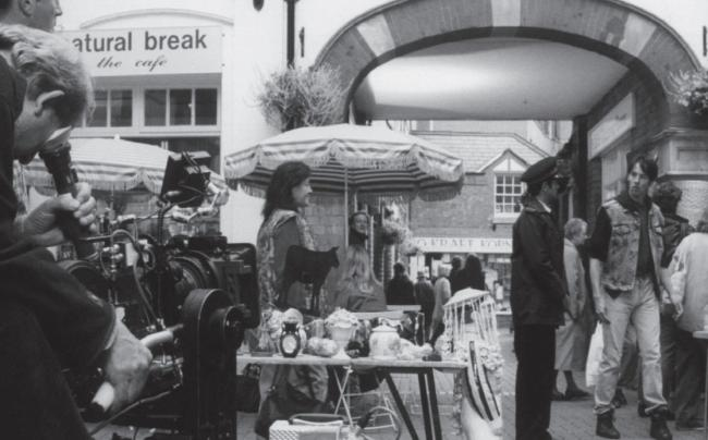 FILMING: Today's picture from the archives of the Worcester News dates from September 1996, when the Hopmarket, off Foregate Street, was usedto film a scene for the BBC's detective series Dalziel and Pascoe. As well as filming in the courtyard,