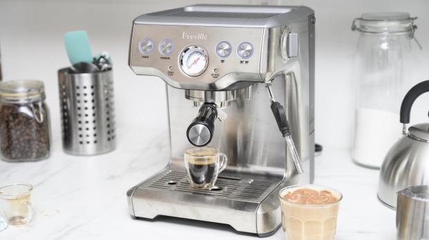 Worcester News: If you're trying to kick your Costa habit, you may benefit from an espresso machine. Credit: Reviewed / Betsey Goldwasser