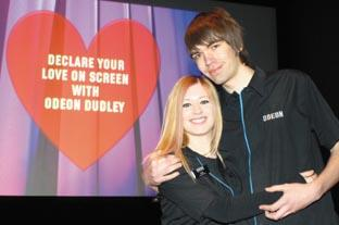 Worcester News: Odeon lovebirds Clare Deeley and Jamie Pickett. Buy Photo:  071021M