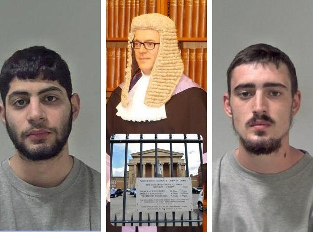 DELAYS: A very busy list at Worcester Crown Court meant Raja (left) and Kilner (right) could not be sentenced by Judge Nicolas Cartwight