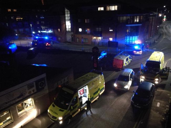 SCENE: Emergency services at Mill Street in Worcester
