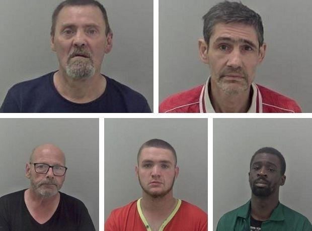 CRIME: Nicholas Ward, Aleksander Savcuks, John Kettle, Anthony Clarke and Adrian Tipping