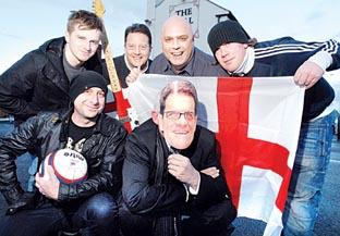 Blind Granny's Taxi Nightmare are hoping for success with their new World Cup song. The band are: back from left, Russ Carlin, Ian Saunders, Andy Probyn, Philip Wood and, front from left, Dave Feeney and Mick Beddington. 07429601