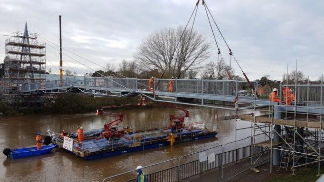 FINISHED: The final piece of Sabrina Bridge has been installed. Pic. Worcs CC