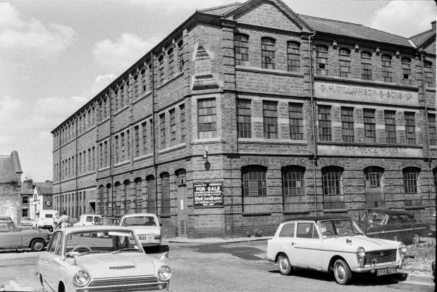 Worcester News: Williamson's Providence Works in the 1960s, showing the Charles Street/ Temperance Street corner