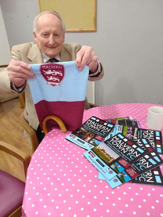 Colin Higgs, one of Malvern Town's oldest supporters and former player. Pic: Andy Poole