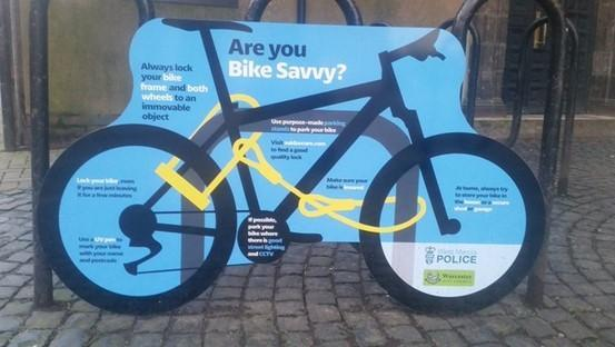 BE BIKE SAVVY: West Mercia Police and Worcester City Council are urging cyclists to take a few simple steps which can drastically reduce the chances of bikes being stolen