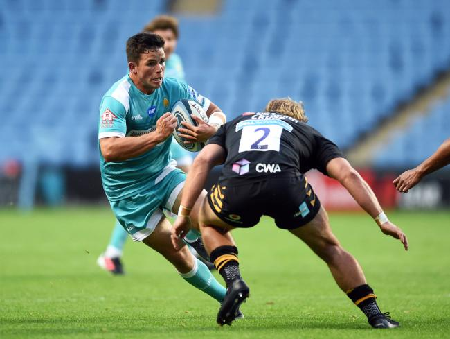 Will Butler of Worcester Warriors takes on the Wasps defence - Mandatory by-line: Patrick Khachfe/JMP - 21/08/2020 - RUGBY UNION - Ricoh Arena - Coventry, England - Wasps v Worcester Warriors - Gallagher Premiership