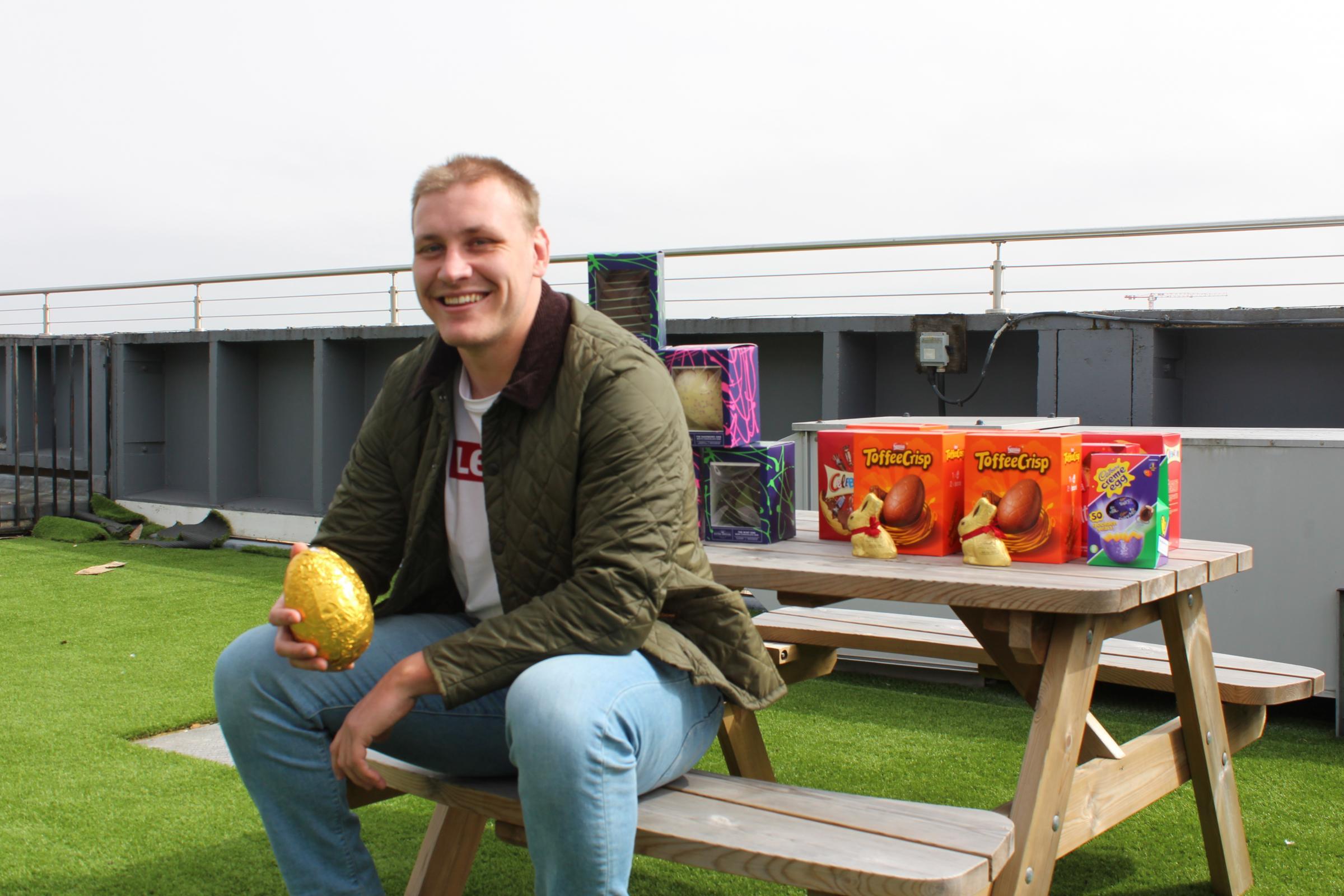 Joe Batley surprises Bristol hospital with Easter delivery