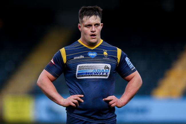 'SHARKY' has become a regular at Sixways and is a popular member of the squad. Pic: JMP