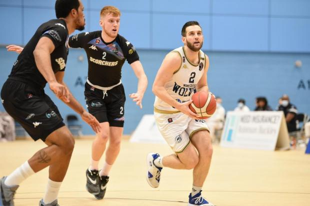 Worcester Wolves' captain Maarten Bouwknecht during the defeat to Surrey Scorchers. Pic: Ezra Rollinson.