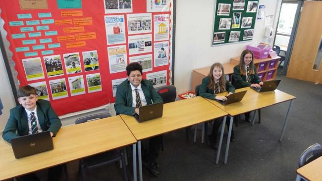 From left, Jacob Jukes, Kasey Afflick, Esme Shankara and Evie Waterhouse